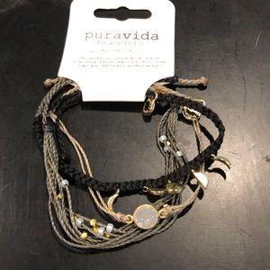 new💕set of 3 bracelets, black, tan, brown
